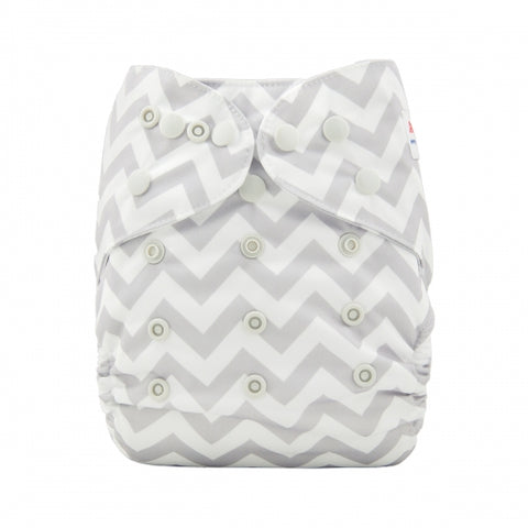 "Alva Cover ""Grey Chevron"""