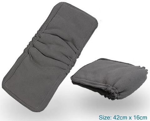 5-layer Gusset Charcoal Bamboo Insert