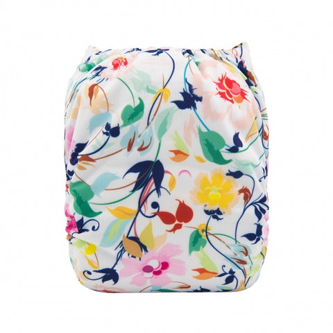 "Alva Pocket  ""White Floral"""