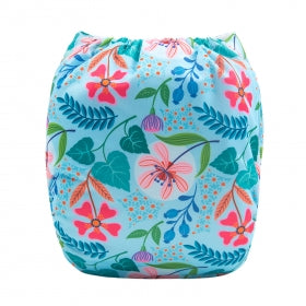 "Alva Pocket  ""Floral on Blue"""