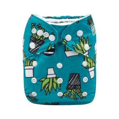 "Alva All-In-One ""Cactus on Teal"""