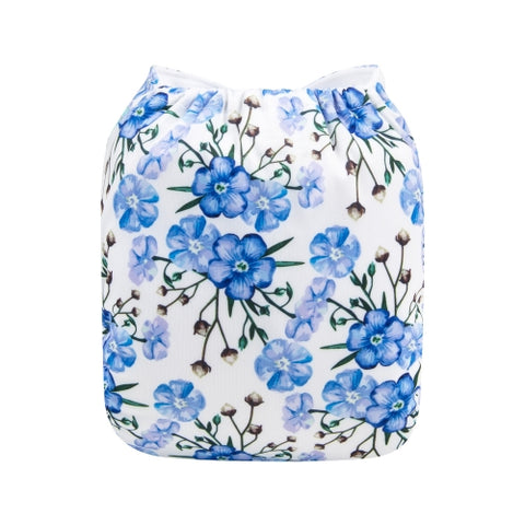 "Alva Pocket  ""Delicate Blue Flowers"""