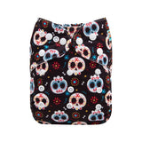 "Alva Pocket  ""Painted Skulls"""