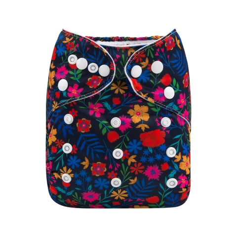 "Alva Pocket ""Blacklight Floral"""
