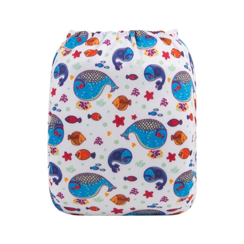 "Alva Pocket ""Fishy Whales"""