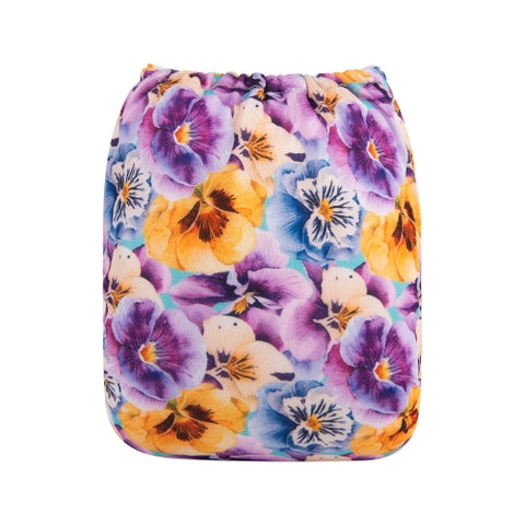 "Alva Pocket ""Painted Pansies"""