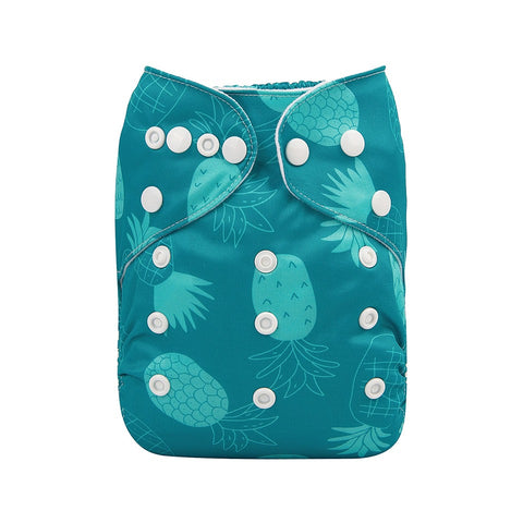 "Alva Pocket ""Turquoise Pineapples"""