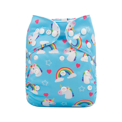 "Alva Pocket ""Bright Rainbow Unicorns"""