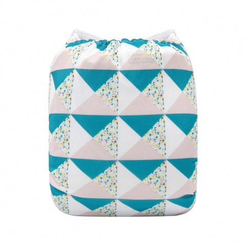 "Alva Pocket ""Pink And Teal Triangles"""