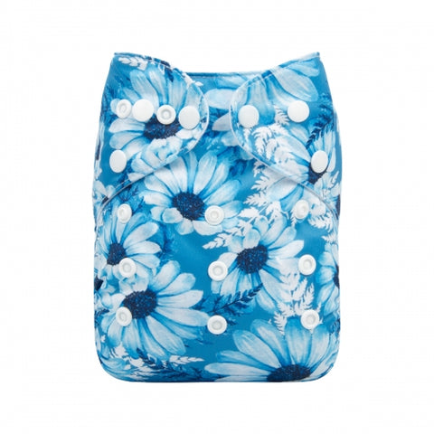 "Alva Pocket ""Vivid Blue Flowers"""