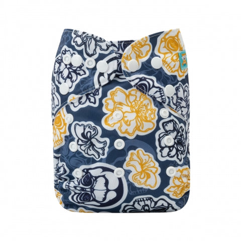 "Alva Pocket ""Skulls and Blossoms"""