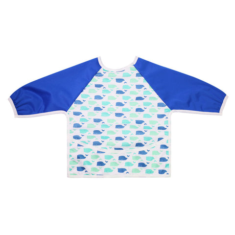 "Long Sleeve Full Bibs - ""Whales"""