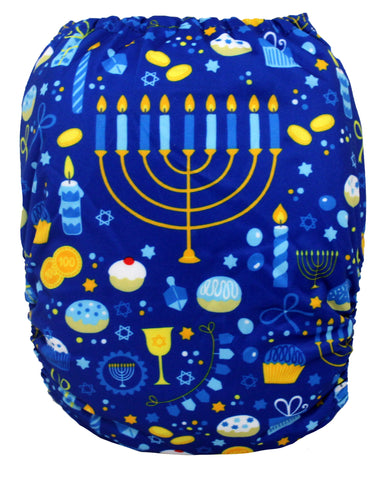 "Fluffy Penguin Pocket ""Hanukkah"""