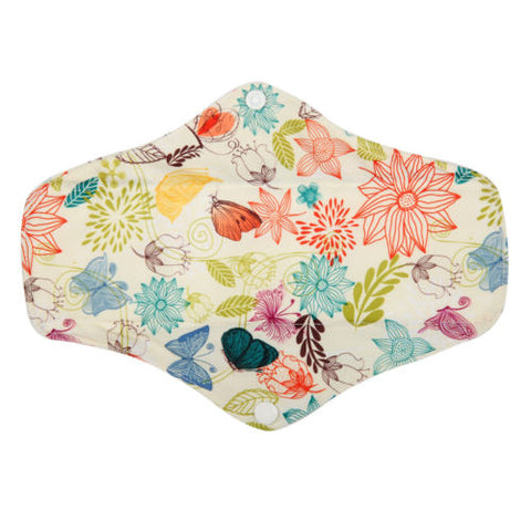 "Cloth Pad Bamboo 12"" ""Ivory Floral"""