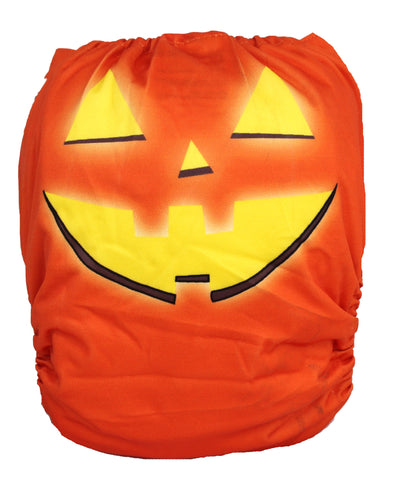 "Fluffy Penguin Pocket ""Jack O Lantern"""