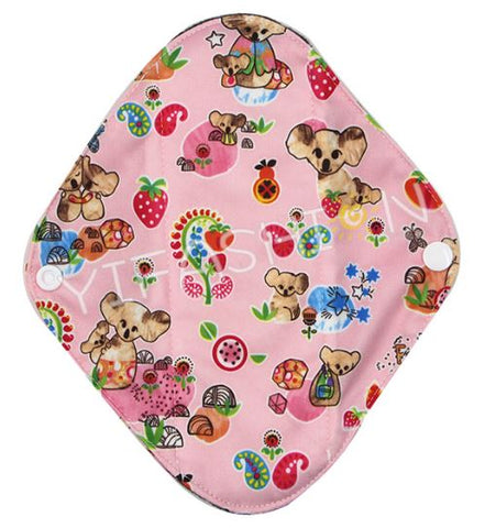 "YiFashion Cloth Pad 12 Inch Charcoal ""Koalas on Pink"""