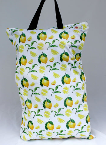 "Single Zipper Hanging Wetbag ""Lemons"""