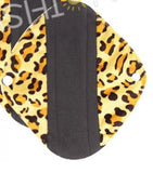 "YiFashion Cloth Pad 12 Inch Charcoal ""Minky Leopard Print"""