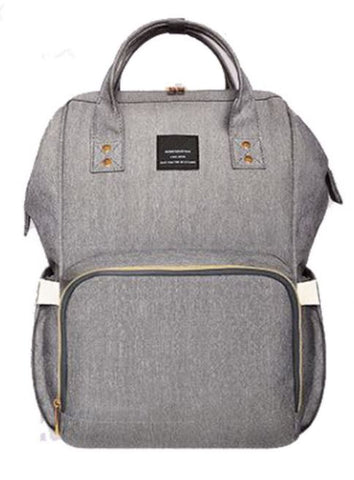 "Backpack Diaper Bag ""Light Grey"""