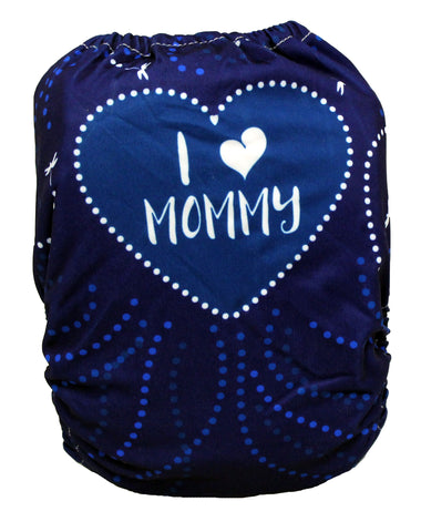 "Fluffy Penguin All in One ""Blue I Love Mommy"""