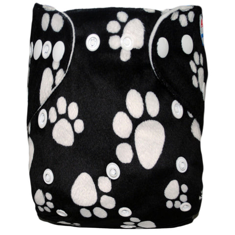 "Alva Pocket ""Minky Paw Prints"""