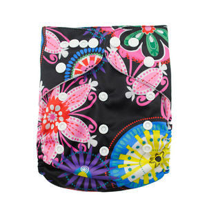 "Alva Pocket ""Neon Flowers"""