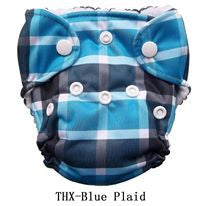 "THX Newborn All-In-One ""Blue Plaid"""