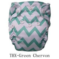 "THX Newborn All-In-One ""Green Chevron"""