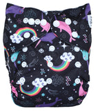 "Fluffy Penguin Pocket ""Rainbow Narwhals"""
