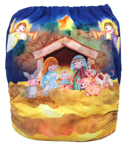"Fluffy Penguin Pocket ""Nativity"""