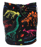 "Fluffy Penguin Pocket ""Neon Dino Bones"""