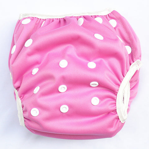 "Sigzagor Swim Diaper ""Solid Dark Pink"""