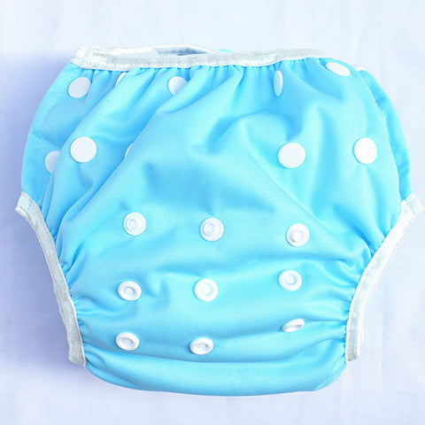 "Sigzagor Swim Diaper ""Solid Light Blue"""