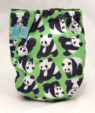 "Alva Newborn Charcoal All In One ""Panda Poses"""