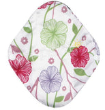 "YiFashion Cloth Pad 10 Inch Charcoal ""Pastel Flowers"""