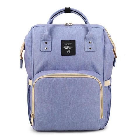 "Backpack Diaper Bag ""Periwinkle"""