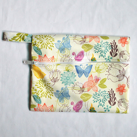 "Mini Wetbag ""Ivory Flowers"""