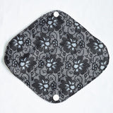 "Cloth Pad Charcoal 12"" ""Black Lace"""