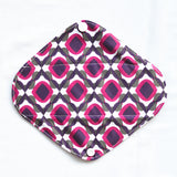 "Cloth Pad Charcoal 8"" Liner ""Purple Moroccan"""