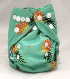 "Alva Newborn Cover ""Pineapples on Green"""