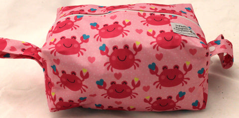"Extended Diaper Pod ""Pink Crabs"""