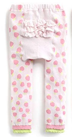 "Eva & Elvin Pants ""Pink Apple Ruffle"""