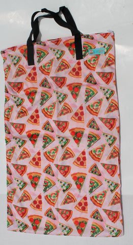 "Single Zipper Hanging Wetbag - ""Pizza"""