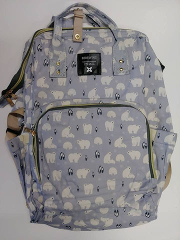 "Backpack Diaper Bag ""Polar Bears"""