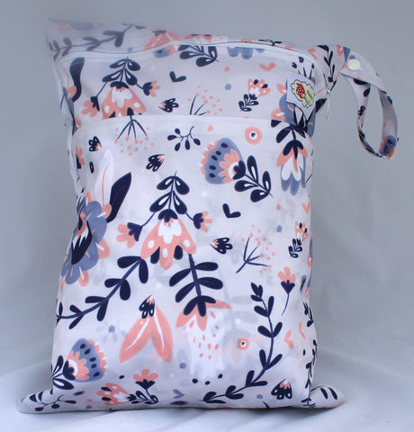 "Happy Flute Travel Wetbag - ""Purple Floral"""