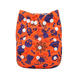 "Alva Pocket ""Orange and Purple Halloween"""