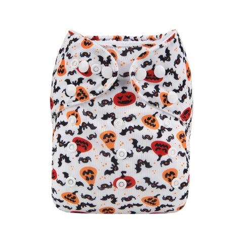 "Alva Pocket ""Bats and Pumpkins"""