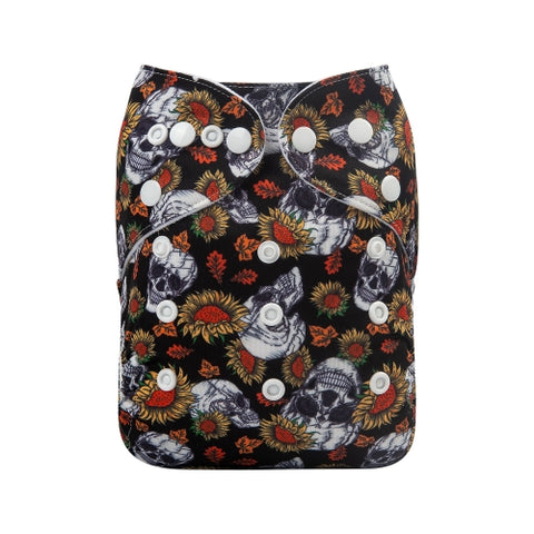 "Alva Pocket ""Sunflower Skulls"""