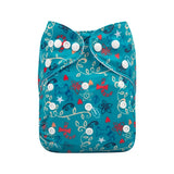 "Alva Pocket ""Swirly Blue Christmas"""