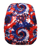"Fluffy Penguin Snappy Ai2 ""Red White and Blue Tie Dye"""